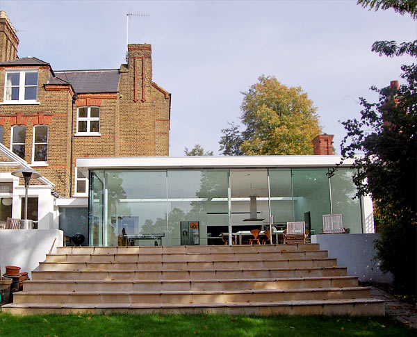 Glass Box Extension and House Extension Crouch End North  : glassextension from www.archplan.co.uk size 600 x 485 jpeg 75kB