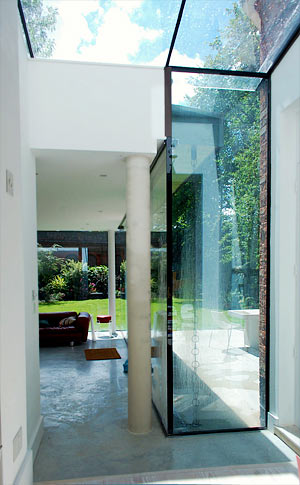 Listed House Extension: Contemporary Glass Extension and