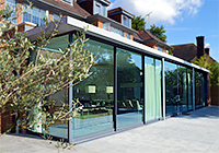 Architects for Glass box extension, Highgate